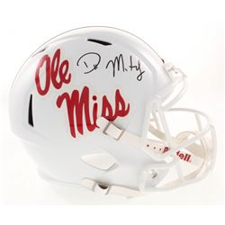 D.K. Metcalf Signed Ole Miss Rebels Full-Size Speed Helmet (Radkte COA)