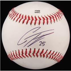 Gleyber Torres Signed OL Baseball (JSA COA)