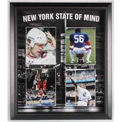 """""""New York State of Mind"""" 27x31 Custom Framed Photo Display Signed by (4) with Derek Jeter, Lawrence"""
