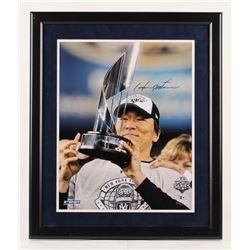 Hideki Matsui Signed New York Yankees 2009 World Series 22.5x26.5 Custom Framed Photo Display (Stein