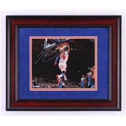 J.R. Smith Signed New York Knicks 14.25x17.25 Custom Framed Photo Display (Steiner COA)