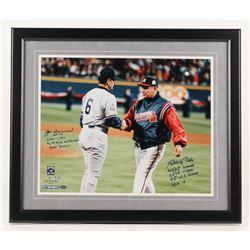 Bobby Cox  Joe Torre Signed 22.5x26.5 Custom Framed Photo Display with Multiple Inscriptions (Steine