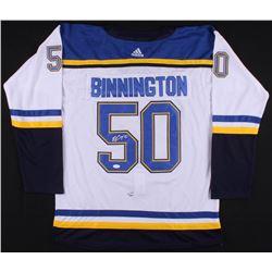 Jordan Binnington Signed 2019 Stanley Cup Finals St. Louis Blues Jersey (JSA COA)