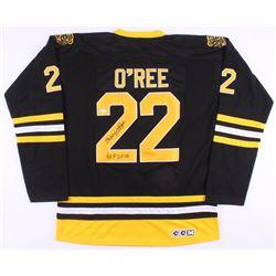 "Willie O'Ree Signed Boston Bruins Jersey Inscribed ""HOF 2018"" (JSA COA)"