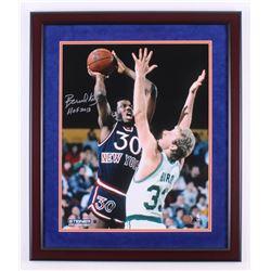 "Bernard King Signed New York Knicks 22x26 Custom Framed Photo Inscribed ""HOF 2013"" (Steiner COA)"