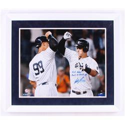 "Tyler Austin Signed New York Yankees 22x26 Custom Framed Photo Inscribed ""MLB Debut""  ""Back to Back"