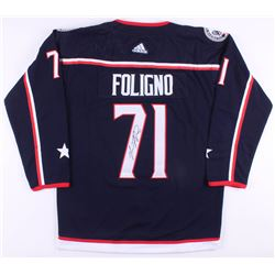 Nick Foligno Signed Columbus Blue Jackets Captains Jersey (JSA COA)
