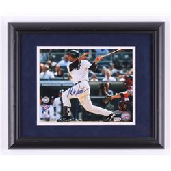 "Jorge Posada Signed New York Yankees ""1st HR at New Yankee Stadium"" 13x16 Custom Framed Photo (Stein"