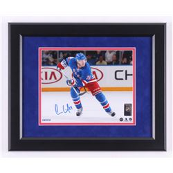 Oscar Lindberg Signed New York Rangers 13.5x16.5 Custom Framed Photo Display (Steiner COA)