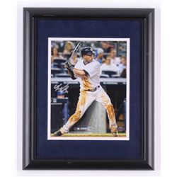 Eduardo Nunez Signed New York Yankees 13x16 Custom Framed Photo (Steiner COA)
