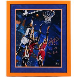 "John Starks Signed New York Knicks 22x26 Custom Framed Photo Inscribed ""5-23-93""  ""The Dunk"" (Steine"