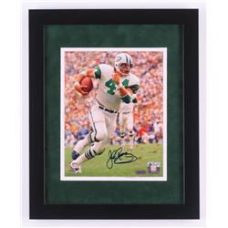 John Riggins Signed New York Jets 13x16 Custom Framed Photo Display (Steiner COA)