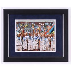 "Christie Rampone Signed Team USA ""2015 World Cup Champions"" 13.5x16.5 Custom Framed Photo Display (S"