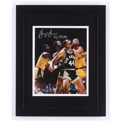 "George Gervin Signed San Antonio Spurs 13x16 Custom Framed Photo Inscribed ""26,595 PTS"" (Steiner COA"