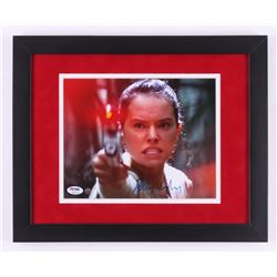 "Daisy Ridley Signed ""Star Wars: The Force Awakens"" 13x16 Custom Framed Photo (Steiner COA  PSA COA)"