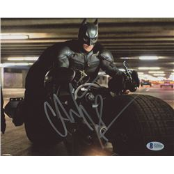 "Christian Bale Signed ""Dark Knight"" 8x10 Photo (Beckett COA)"
