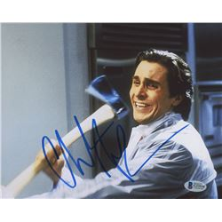 "Christian Bale Signed ""American Psycho"" 8x10 Photo (Beckett COA)"