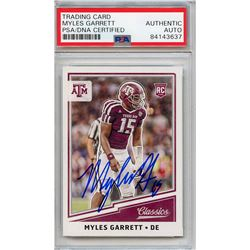 Myles Garrett Signed 2017 Classics #270 RC (PSA Encapsulated)
