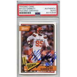 Myles Garrett Signed 2018 Classics #25 (PSA Encapsulated)