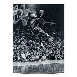 "Michael Jordan Signed Chicago Bulls ""Frozen in Time"" 30x40 Photo (UDA COA)"