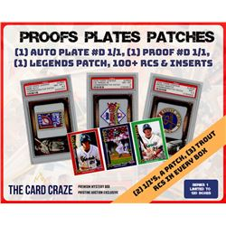 """The Card Craze """"Proofs Plates  Patches"""" Multi-Sport Mystery Box"""