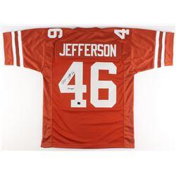 "Malik Jefferson Signed Texas Longhorns Jersey Inscribed ""Hook Em"" (Jefferson Hologram)"