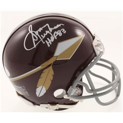 "Sonny Jurgensen Signed Washington Redskins Throwback Mini Helmet Inscribed ""HOF 83"" (JSA COA)"