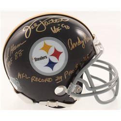 Jack Ham, Jack Lambert  Andy Russell Signed Pittsburgh Steelers Mini-Helmet with (3) Inscriptions (J