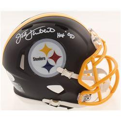 "Jack Lambert Signed Pittsburgh Steelers Matte Black Speed Mini Helmet Inscribed ""HOF 90"" (JSA COA)"