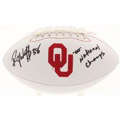 """Roy Williams Signed Oklahoma Sooners Logo Football Inscribed """"""""00"""" National Champs"""" (JSA COA)"""