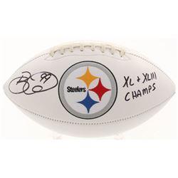 "Brett Keisel Signed Pittsburgh Steelers Logo Football Inscribed ""XL  XLIII Champs"" (JSA COA)"