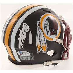 Adrian Peterson Signed Washington Redskins Matte Black Mini Speed Helmet (Beckett COA)