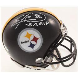 "Hines Ward Signed Pittsburgh Steelers Mini-Helmet Inscribed ""SB XL MVP"" (JSA COA)"