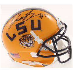 Greedy Williams Signed LSU Tigers Mini Helmet (JSA COA)