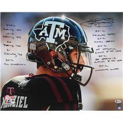 Johnny Manziel Signed Texas AM Aggies 16x20 Photo with (10) Inscriptions (Beckett COA)