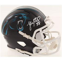 Luke Kuechly Signed Carolina Panthers Matte Black Speed Mini-Helmet (JSA COA)