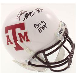 """Jace Sternberger Signed Texas AM Mini-Helmet Inscribed """"GIG EM"""" (JSA COA)"""