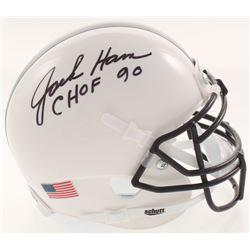 "Jack Ham Signed Penn State Nittany Lions Mini Helmet Inscribed ""CHOF 90"" (JSA COA)"