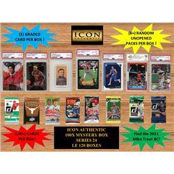 ICON AUTHENTIC - 100X MYSTERY BOX SERIES 24 100+ Cards per Box