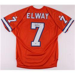 John Elway Signed Denver Broncos Jersey (Beckett COA)