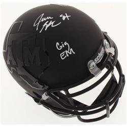 """Jace Sternberger Signed Texas AM Aggies Matte Black Mini Helmet Inscribed """"Gig Em"""" (JSA COA)"""