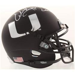 "Warren Sapp Signed Miami Hurricanes Matte Black Mini Helmet Inscribed ""94 Lombardi"" (JSA COA)"