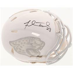 Fred Taylor Signed Jacksonville Jaguars Custom Matte White ICE Mini Speed Helmet (Beckett COA)