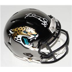 Fred Taylor Signed Jacksonville Jaguars Chrome Speed Mini-Helmet (Beckett COA)