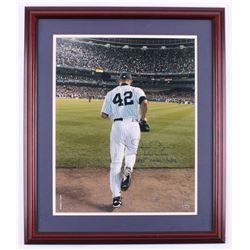 "Mariano Rivera Signed New York Yankees 22.5x26.5 Custom Framed Inscribed ""Enter Sandman""  "" 400th Sa"
