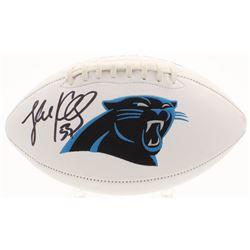 Luke Kuechly Signed Carolina Panthers Logo Football (JSA COA)