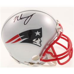 N'Keal Harry Signed New England Patriots Mini-Helmet (Beckett COA)