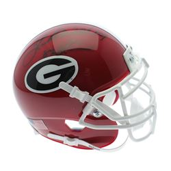 "Herschel Walker Signed Georgia Bulldogs Mini Helmet Inscribed ""82 Heisman"" (Sports Collectibles Holo"