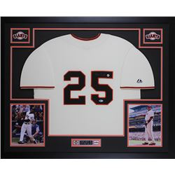 Barry Bonds Signed 35x43 Custom Framed Jersey (Beckett COA)
