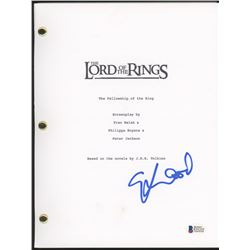 """Elijah Wood Signed """"The Lord of the Rings: The Fellowship Of The Ring"""" Movie Script (Beckett COA)"""